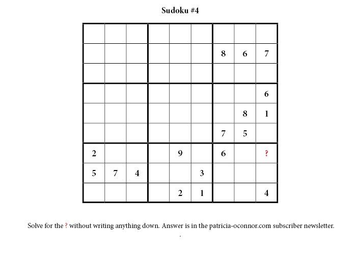 sudoku quiz #4 edited