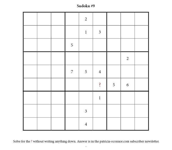 sudoku quiz #9 edited