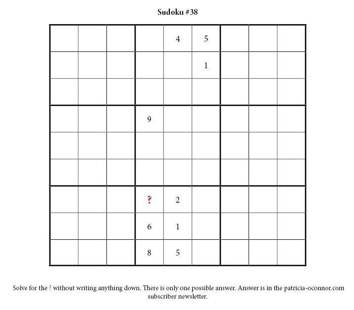 sudoku quiz #38 edited