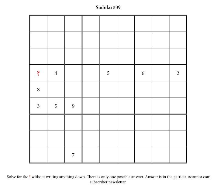 sudoku quiz #39 edited