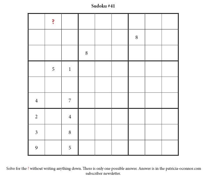sudoku quiz #41 edited