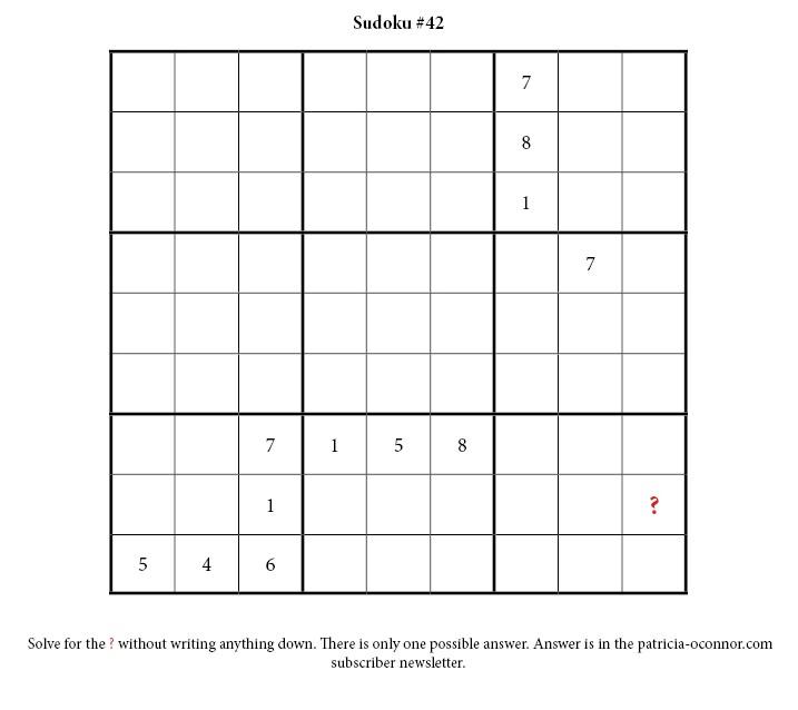 sudoku quiz #42 edited